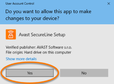 Avast Secureline Setup