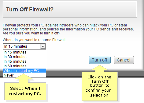 How To Disable Antivirus Firewall?